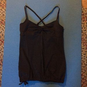 Size 6 lululemon black cross back tank top.